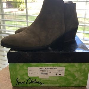 Sam Edelman Petty moss green shade ankle boots